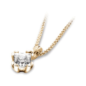 4 Claw Square Diamond Pendant JSD2005