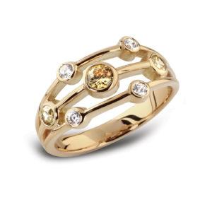 Round Brilliant Multi Stone Ring JSDRL44