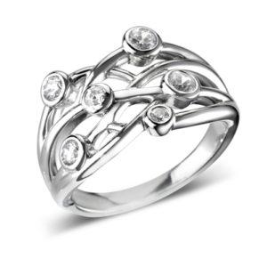 Round Brilliant Multi Stone Ring JSDRL87