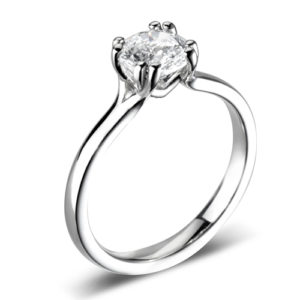 Round Brilliant Solitaire Ring JSDR1-1156