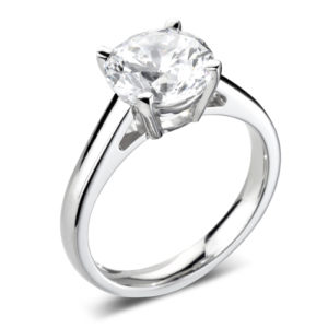 Round Brilliant Solitaire Ring JSDR1-2178