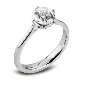 Round Brilliant Solitaire Ring JSDR1-243