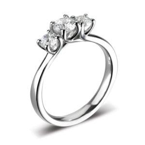 Round Brilliant Three Stone Ring JSDR3-1014
