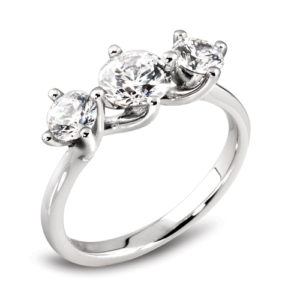 Round Brilliant Three Stone Ring JSDR3-144