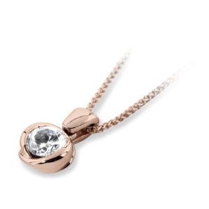 Single Stone Round Diamond Pendant JSD1021