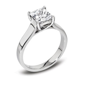 Square Solitaire Ring JSDR1-136