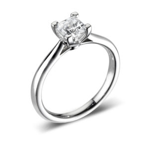 Square Solitaire Ring JSDR1-2177