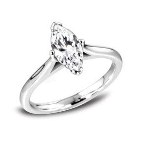 Unique Marquise Solitaire Ring JSDR1-1114